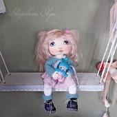 Текстильная кукла. Маленькая текстильная кукла.