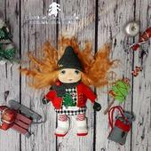 Текстильная кукла Новогодняя Гномочка