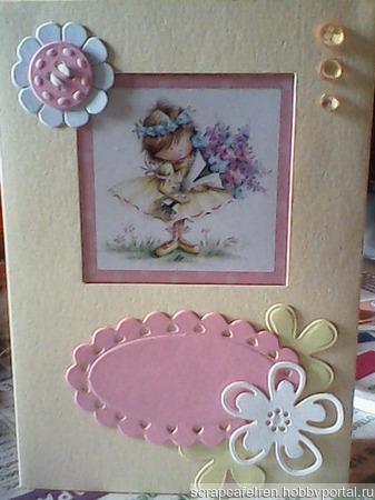 Детская открытка ручной работы на заказ