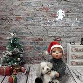 Кукла из полимерной глины Малыш и щенок