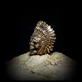 """Бусина """"Вождь индейцев"""" для темляков или браслетов бронза"""
