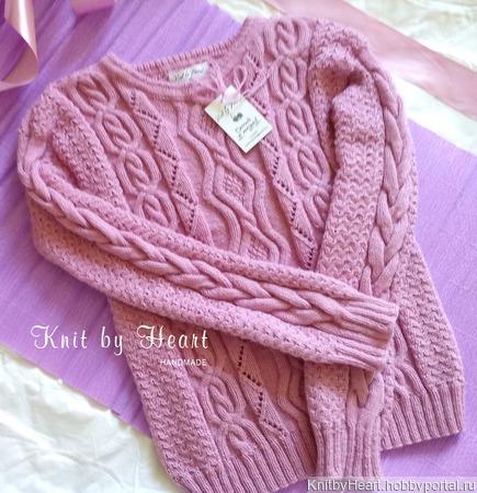 Вязаный джемпер Knit by Heart ручная работа ручной работы на заказ