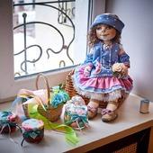 Текстильная кукла Марго. Текстильная подвижная кукла.