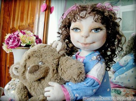 Текстильная кукла Марго. Текстильная подвижная кукла. ручной работы на заказ