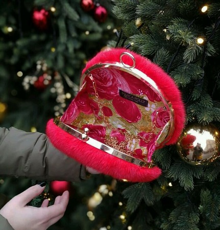 Клатч шар из меха норки ручной работы на заказ