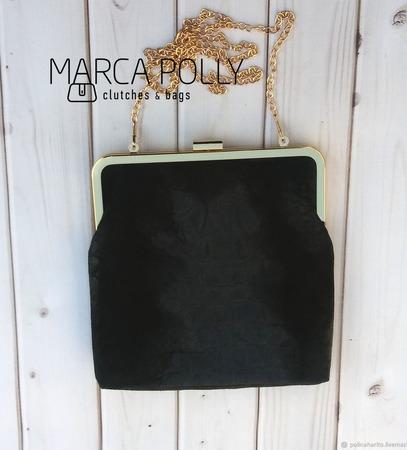 """Клатч с фермуаром """"Ида"""", сумка из  замши, клатч замшевый ручной работы на заказ"""