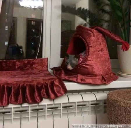 Домик для кошки Шляпа. ручной работы на заказ