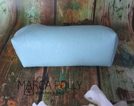 Клатч с фермуаром, сумка из кожи ручной работы на заказ