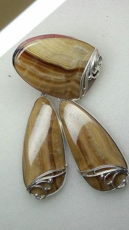 Симбирцит Комплект украшений ручной работы на заказ