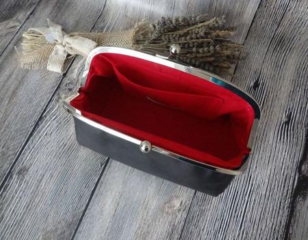 """Клатч с фермуаром """"Софи"""", клатч с фермуаром, сумка из замши ручной работы на заказ"""