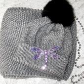 Комплект шапочка и шарф-снуд