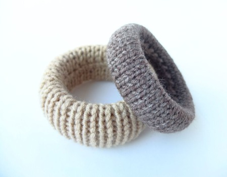 """Вязаные браслеты """"Кофе-брейк"""" комплект вязаных браслетов ручной работы на заказ"""