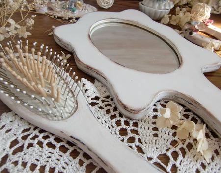"""Набор зеркало и расческа """"Нежность"""" декупаж ручной работы на заказ"""