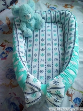 Гнездышко для новорожденного ручной работы на заказ