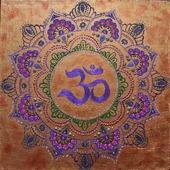 Картина акрилом Индийский знак ОМ