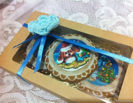 Пряники Новогодние набор подарок 2018 ручной работы на заказ