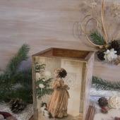 "Карандашница ""Счастливое рождество"" декупаж"