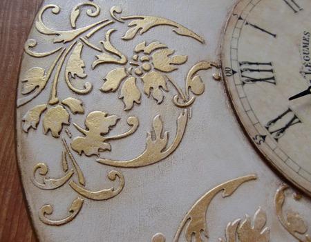 """Большие часы настенные """"Вальс цветов"""" 40 см ручной работы на заказ"""