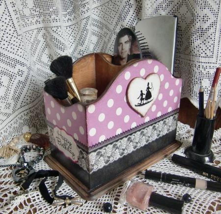 """Подставка для косметики """"Happy Birthday"""" ручной работы на заказ"""