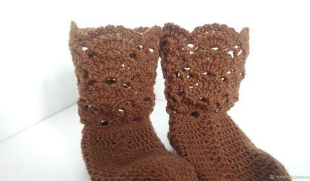 Носки-сапожки Королевские ручной работы на заказ