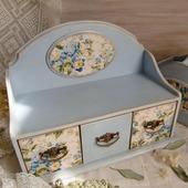 фото: Для дома и интерьера (голубые цветы декупаж)