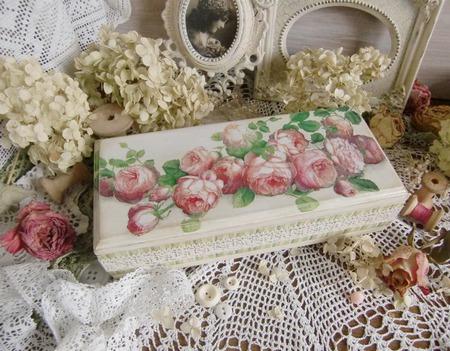 """Шкатулка """"Английские розы"""" шкатулка декупаж ручной работы на заказ"""