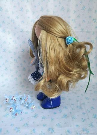 Текстильная кукла ручной работы на заказ