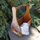 """Короб, корзинка для кухни, дачи """" Лавандовый сад  """""""