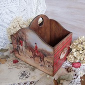 "Короб для специй ""Английская охота"" короб для кухни, декупаж"