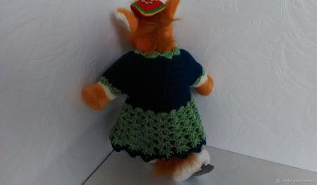 Платье для куклы Еловое ручной работы на заказ