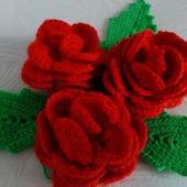 фото: Аксессуары (вязаные цветы)