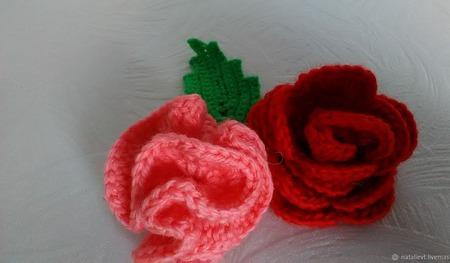 Цветочные композиции вязаные ручной работы на заказ