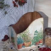 """Короб для специй """"Ароматные травы"""" декупаж"""
