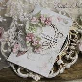 """Открытка ручной работы"""" Поздравляем"""" белая розовая"""