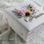 """Альбом для новорожденной девочки """"Моя малышка """" детское цветы белый"""