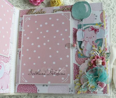 """Альбом для новорожденной девочки """"Моя малышка """" детское цветы белый ручной работы на заказ"""