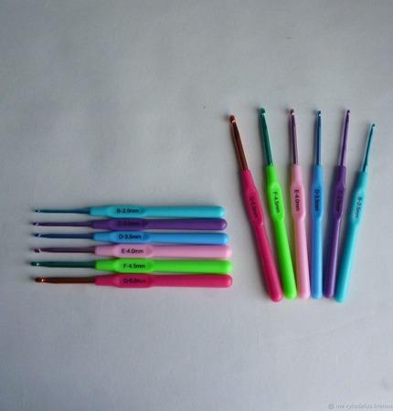 Крючки для вязания (2,5-5,0 мм) ручной работы на заказ