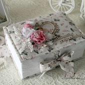 """Коробочка """" Мамины сокровища""""шкатулка для девочки белый розовый"""