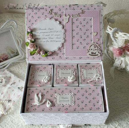 """Коробочка """" Мамины сокровища""""шкатулка для девочки белый розовый ручной работы на заказ"""