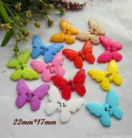 Пуговицы бабочки ручной работы на заказ