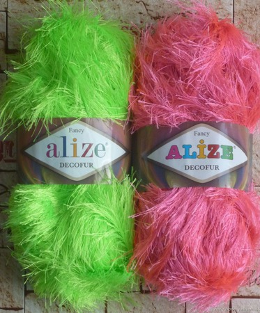 Alize Decofur (травка) ручной работы на заказ