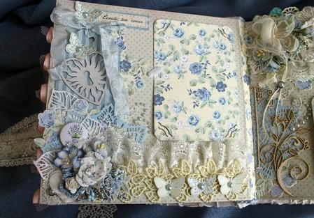 """Фотоальбом """"Memory""""для фотографий белый голубой для девушки ручной работы на заказ"""