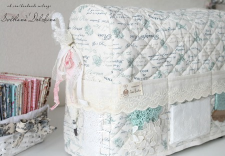 Чехол для швейной машинки органайзер хранение для рукодельницы ручной работы на заказ