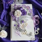 """Шоколадница """"С днем рождения"""" коробка подарок фиолетовый"""