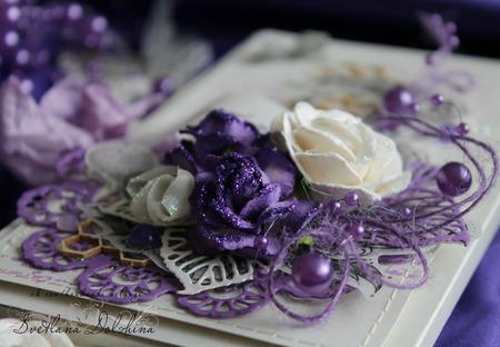 """Шоколадница """"С днем рождения"""" коробка подарок фиолетовый ручной работы на заказ"""