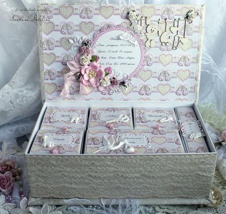 """Коробочка """"Мамины сокровища"""" шкатулка для девочки белый розовый ручной работы на заказ"""