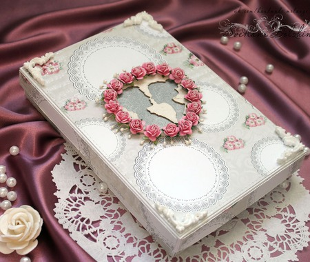 Шоколадница свадебное в коробке белый розовый подарок молодоженам ручной работы на заказ