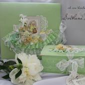 """Коробка """"Мамины сокровища"""" шкатулка для девочки салатовый подарок"""