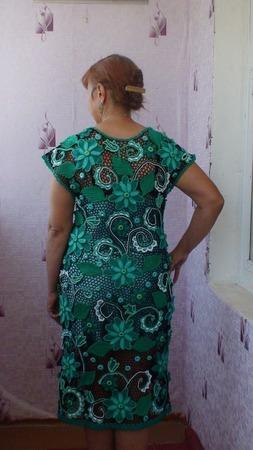 """Платье """"Изумруд"""" ручной работы на заказ"""