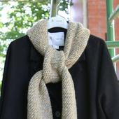 Вязаный шарф унисекс широкий теплый меланжевый